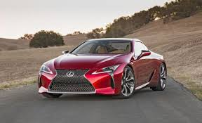 lexus lc red. 2017 lexus lc 500 grand tourer on the road lc red
