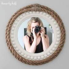 rope wrapped mirrors diy pottery barn s