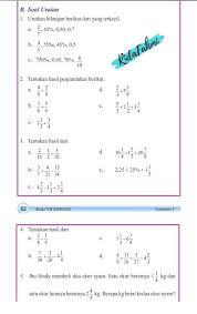Kunci jawaban ini ditujukan sebagai bahan referensi dan latihan untuk siswa dirumah yang berasal dari buku siswa kelas 5 tema 1 kurikulum 2013 edisi revisi 2017 semester 1 artikel terkait Kunci Jawaban Matematika Kelas 7 Halaman 62 Soal Uraian File Pdf