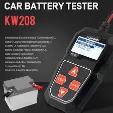 KW208 pil Test cihazı araba dijital 12V 100-2000CCA marş şarj sistemi Test  aracı otomobil aküsü kapasitesi Test cihazı sipariş | Outlet -  Emporium-Taze.today