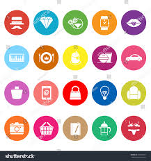Department Store Item Category Flat Icons Stock Vector (Royalty Free ...