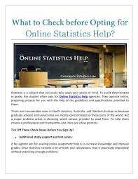 what to check before opting for online statistics help online what to check before opting for online statistics help online statistics help statistics help