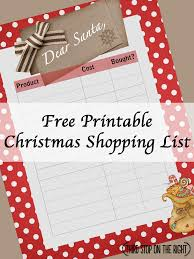 Keep Track Of Christmas Shopping With This Free Printable Shopping ...