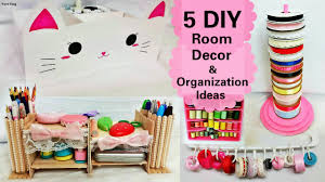 Diy Desk Organizer 5 Diy Room Decors And Organization Ideasdiy Animal Storage Box