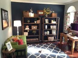 home office wall ideas. Blue Home Office Wall. Dark Accent Wall For A Or Study : Ideas