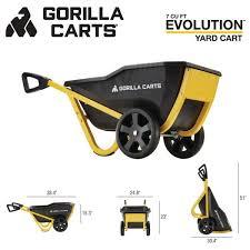 gorilla carts 7 cu ft evolution poly