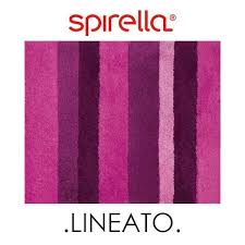 spirella lineato pink purple striped thick pile luxury bathroom rug mat 55x65cm for
