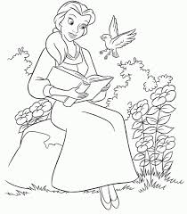 Snow white playing colouring page. Get This Disney Princess Belle Coloring Pages Online 63258