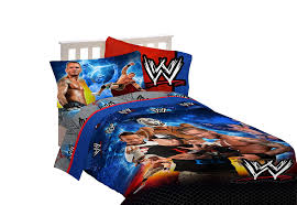 wwe wrestling champions twin sheet set