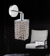 Bathroom Lighting Sconces Best 48 Light Bathroom Sconce With Chrome Finish 42848WRS Clear