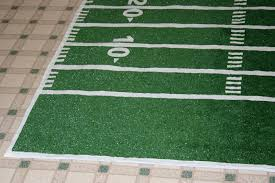 make a football field rug chica and jo football field rug large
