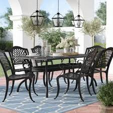 metal patio chairs. Castle Heights 7 Piece Dining Set Metal Patio Chairs