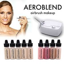 aeroblend airbrush makeup cosmetic personal starter kit um 5 airbrush foundation bronzer highlight