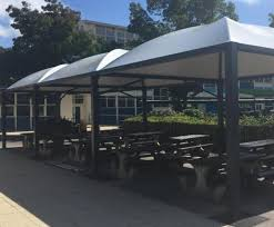 sheltered canopies for school outdoor eating area