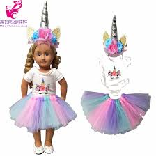 <b>18 inch doll</b> dress for 45cm new born <b>baby</b> doll dress doll clothes for ...