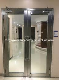 fire rating in case of outdoor door frame should used in conjunction with fire resistant glass
