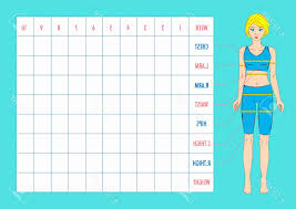 Measurements Chart For Weight Loss New Body Measuring Chart