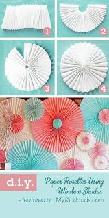 How To Make a Party Backdrop With Paper Window Shades. Diy Party  DecorationsDiy ...
