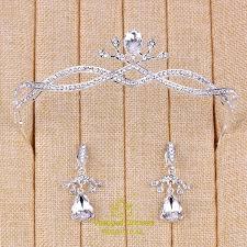 Alloy Dress Size Chart Shining Elegant Alloy Rhinestones Tiaras Earrings Vampal