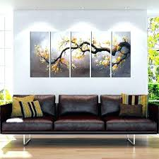 3 piece wall art wall art sets 3 piece wall art sets hand painted plum blossom 3 piece wall art