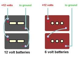 rv 6 volt golf cart battery upgrade modmyrv how to wire 2 12 volt and 2 6 volt batteries in parallel