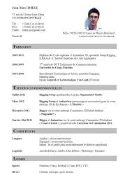 cv template word francais resume template table sample format of free for microsoft word