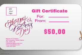 Mothers Day Gift Certificate Template Postermywall