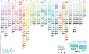 Color Family Chart Copic Color Family Chart 1 Copic Marker Color Chart Copic