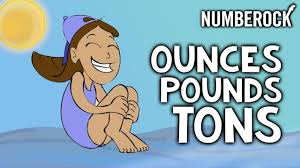 Pounds To Tons Chart Ounces Oz Pounds Lbs And Tons Song Weights Measurement For Kids
