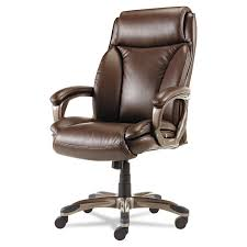 com alera veon series executive high back leather chair with coil spring cushioning brown kitchen dining