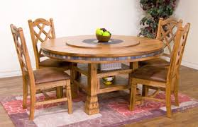 dining table set with lazy susan. sedona 60\ dining table set with lazy susan
