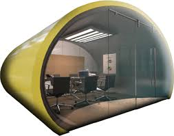office pod. Yellow Concept Cocoon - Portable Office Pod
