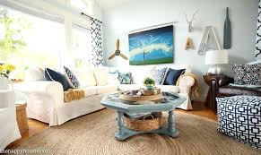 coastal pictures for living room navy and white cozy refresh at beach house r25 beach