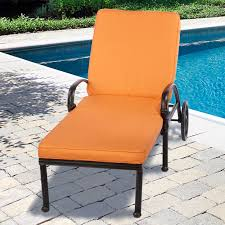 outdoor chase lounge by sunbrella outdoor furniture with orange cushion for patio ideas replacement cushions