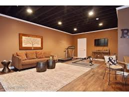 finish basement ceiling ideas. nicely finished basement with painted exposed ceiling finish ideas c
