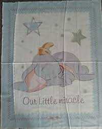 Disney Dumbo the Elephant Our Little Miracle Quilt Fabric Cot ... & Brand NEW Disney Dumbo COT Quilt Panel | eBay Adamdwight.com