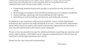 Leading Professional Aircraft Mechanic Cover Letter Examples