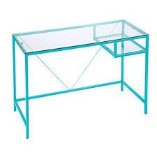 aqua glass desk black glass desk