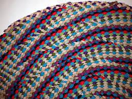vintage american handmade braided rug 1970s 4 870 00 per piece