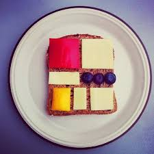 famous paintings recreated with food as in sandwiches