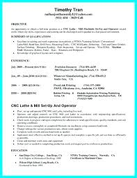 Machinist Resume Sample Resume For Machinist Stirring Machinist
