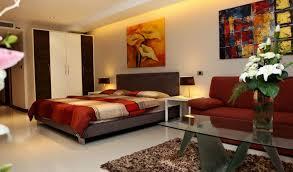 studio apt furniture ideas. amazing design of the apartment decor ideas with white floor added red sofa and studio apt furniture