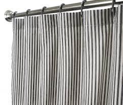 Shower Curtain Unique Fabric Designer Modern Black and White Striped  Ticking 72 Inches: Bedding & Bath - B00K5939Q8