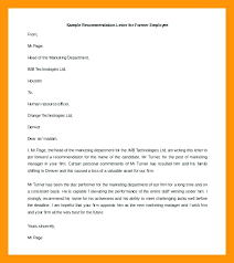 Letter Of Recommendation Employment Template Sample Reference Letter Template For Employee Recommendation Job