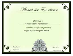 Award Of Excellence Certificate Template Business Certificates Award for Excellence CertificateStreet 6