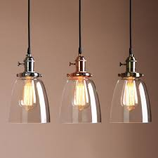 vintage industrial ceiling lamp glass pendant light shade triple chro kitchen island brass fixture new backsplash ideas green tiles halo paragon kitchens