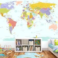 world map wallpaper mural for kids room decal world map wall stickers wall sticker world map wall