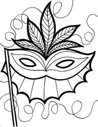 Mardi Gras Coloring Page