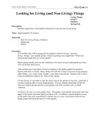 Looking for Living (and Non-Living) Things Lesson Plan for 1st ...