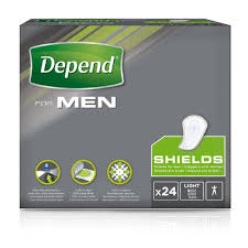 Depends Mens Shields Light Depend Shields For Men Light Absorbency 24 Pads Approved Food